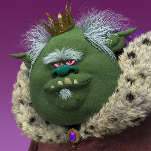 Juguetes trolls Bergen Rey Gristle