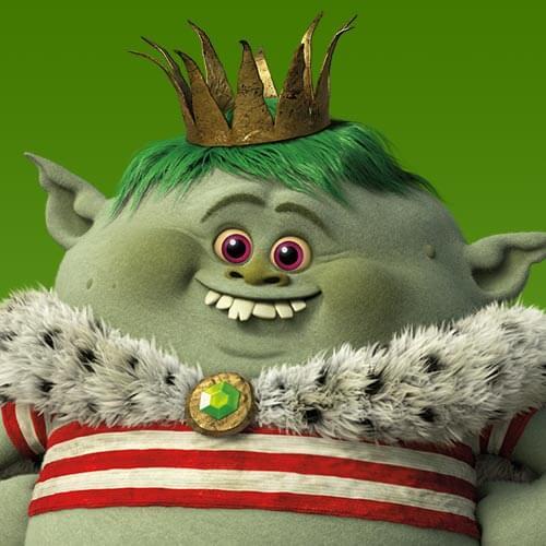 Juguetes trolls Bergen Príncipe Gristle